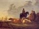 Art - Oil Paintings - Masterpiece #3003 - Aelbert Cuyp - Cattle with Horseman and Peasants - Gallery Quality