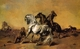 Art - Oil Paintings - Masterpiece #3013 - Eugene Fromentin - Desert Scene - Museum Quality