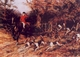 Art - Oil Paintings - Masterpiece #3014 - Heywood Hardy - Calling the Hounds Out of Cover - Museum Quality