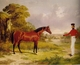 Art - Oil Paintings - Masterpiece #3016 - John F Herring - A Soldier with an Officer's Charge - Museum Quality