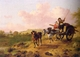 Art - Oil Paintings - Masterpiece #3020 - Julius Caesar Ibbetson - Returning from Market - Gallery Quality