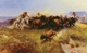 Art - Oil Paintings - Masterpiece #3024 - Charles M Russell - The Buffalo Hunt - Museum Quality