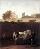 Art - Oil Paintings - Masterpiece #3030 - DUJARDIN, Karel - Italian Landscape with Herdsman and a Piebald Horse sg - Gallery Quality