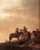 Art - Oil Paintings - Masterpiece #3036 - WOUWERMAN, Philips - Rider's Rest Place q4r - Gallery Quality