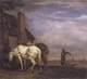 Art - Oil Paintings - Masterpiece #3051 - POTTER, Paulus - Two Drafthorses in Front of a Cottage (mk05) - Museum Quality
