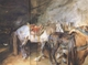 Art - Oil Paintings - Masterpiece #3058 - John Singer Sargent - Arab Stable (mk18) - Museum Quality