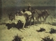 Art - Oil Paintings - Masterpiece #3079 - Frederic Remington - The Desert Prospector (mk43) - Museum Quality