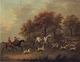 Art - Oil Paintings - Masterpiece #3102 - John Nost Sartorius - Entering The Woods,A Hunt - Museum Quality