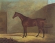 Art - Oil Paintings - Masterpiece #3117 - John Boultbee - A Chestnut Hunter With A Groom By a Building - Gallery Quality