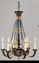 Jeanne Reed's - Chandelier (black/gold metal)