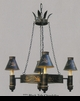 Jeanne Reed's - Chandelier (tole, black)