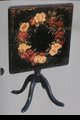 Jeanne Reed's - Large Flip-Top Table-black/floral