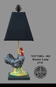 Jeanne Reed's - Rooster Lamp