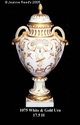Jeanne Reed's - White & Gold Urn