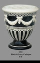 Jeanne Reed's - Black & Ivory Cachepot