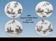 "Jeanne Reed's - ""Imperial Garden"" Plates - Set of 4"