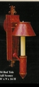 Jeanne Reed's - Sconce - red tole