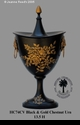 Jeanne Reed's - Chestnut Urn - black & gold