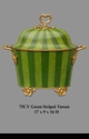 Jeanne Reed's - Tureen - green stripe