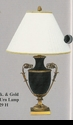 Jeanne Reed's - Black & Gold Urn Lamp