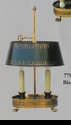 Jeanne Reed's - Brass Lamp/tole shade - black