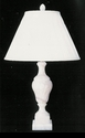 Jeanne Reed's - Alabaster Lamp - white swirl