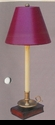 """Jeanne Reed's - Book Lamp w/""""leather"""" shade"""