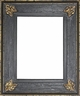 Wall Mirrors - Mirror Style #396 - 30x30 - Black & Gold