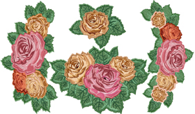 Tea Roses Applique