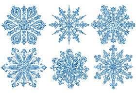 White-work  Snowflakes