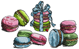 "Macaroons Set for 4""x4"""