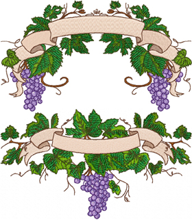 Grape Vine Font Embellishments