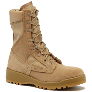 Belleville 340 DES ST Hot Weather Tan Steel Toe Flight Boot