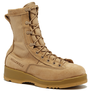Belleville 330 DES ST Hot Weather Tan Steel Toe Flight Boot