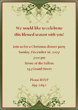Christmas Elegance Invitation