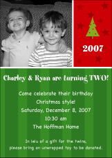 Sweet Joy Photo Christmas Invitation