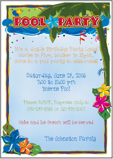 Luau Fun Birthday Invitation