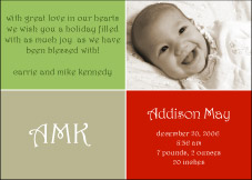Darling Divide Holiday Birth Announcement