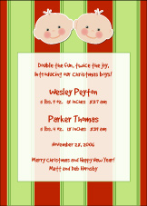 Cutie Pies Twins Christmas Birth Announcement