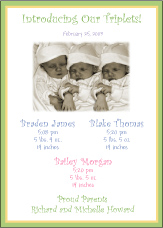 B&G Photo Triplet Birth Announcement