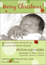 Delicious Dots Holiday Birth Announcement