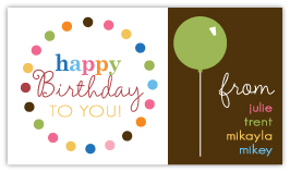 Birthday Balloon Gift Card