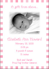 Blocks Girl Photo Birth Announcement