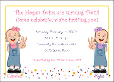 Cartoon kids 2 year old twin girls birthday invitation filmwisefo