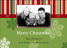Classic Whimsy Photo Christmas Card