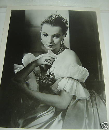 CLAIRE BLOOM CYRANO DE BERGERAC ORIGINAL 1950'S TV AUDIENCE PROMOTION PHOTOGRAPH