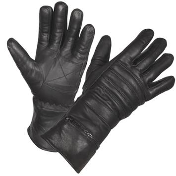 Basic & Waterproof Padded / Insulated Leather Gauntlet Gloves