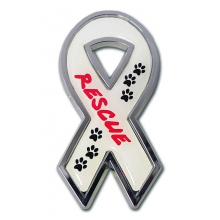 Rescue Ribbon Chrome Emblem A portion of the proceeds go to The Humane Society
