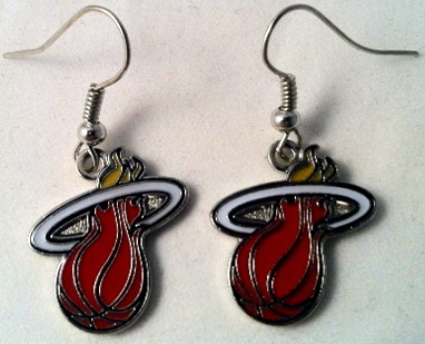 Miami Heat Dangle Earrings