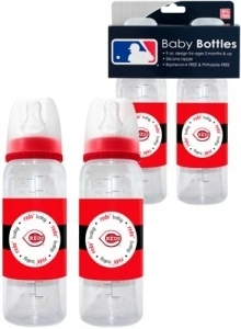 Cincinnati Reds MLB Baseball 2-Pack Baby Bottles